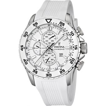 montre festina contact silk f16642 1 montre sport blanche silicone homme achat prix fnac