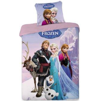 Parure housse de couette + 1 taie d'oreiller La reine des neiges