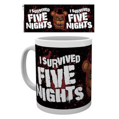 Tasse Five Nights at Freddys J'ai survécu