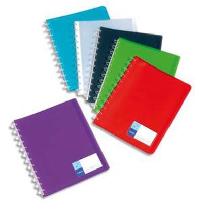 Lot de 12 Protège-documents MAXI GEODE 60 vues en polypro translucide 7/10ème, coloris assortis