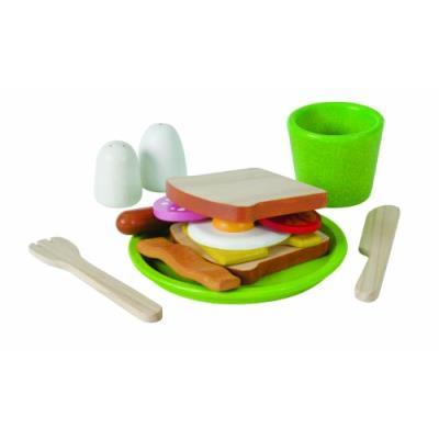 Plantoys - pt3602 - jeu d'imitation - cuisine - assiette petit déjeuner