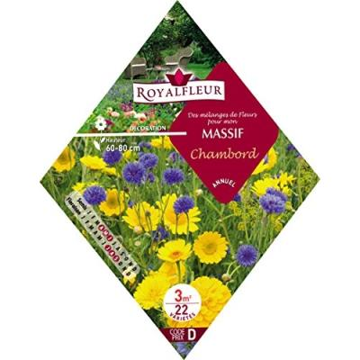 Royalfleur Pfrk08692 Graines De Mélange De Fleurs Mon Massif Chambord 3 M²
