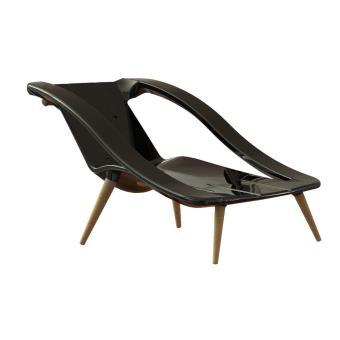 isidore design fauteuil bain de soleil 2 en 1 noir mobilier de jardin achat prix fnac - Fauteuil Bain De Soleil