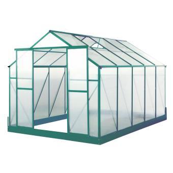 Serre de jardin polycarbonate Orchidée - 8,93 m² - Matériel pour ...