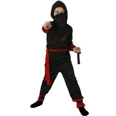Déguisement enfant Ninja rouge en 5/6 ans Taille:T4 - 10/12ans - XL