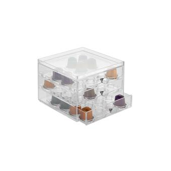 bo te de rangement capsules superposable interdesign 64 dosettes nespresso achat prix fnac. Black Bedroom Furniture Sets. Home Design Ideas