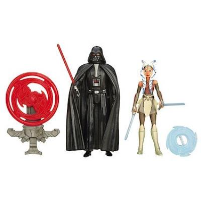 Hasbro - B3959 - Star Wars Rebels - Darth Vader & Ahsoka Tano - 2 Figurines 9 cm + Accessoires