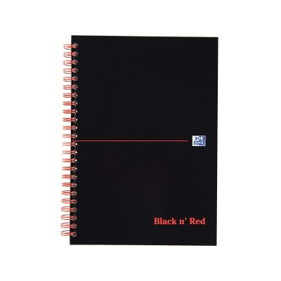 Oxford Black n 'Red140 pages ligné A-Z Cahier à spirale Pochettes A5 (lot de 5)
