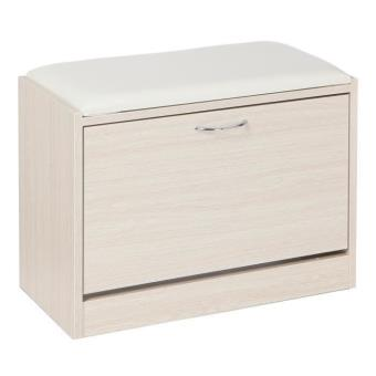 style meuble a chaussures banc blanc achat prix fnac. Black Bedroom Furniture Sets. Home Design Ideas