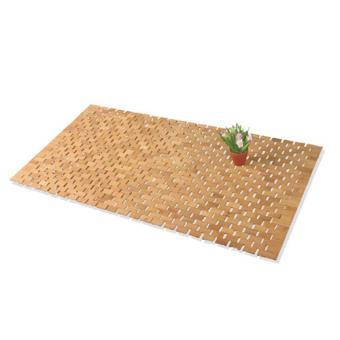 Tapis de salle de bain / cailleboti bambou - 50 x 80 cm - Latte ...