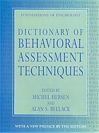 Dictionary of Behavioral Assessment Techniques, Foundations of Psychology