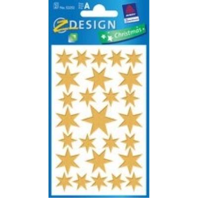 Glanz-sticker sort.sterne,silb ek handel 52252