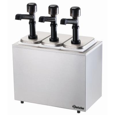 Pompe à sauce 3 pompes avec 3 bacs x 3,3L