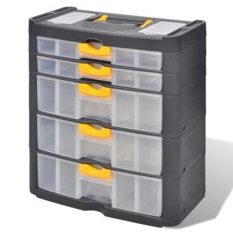 Boite Casier Commode De Rangement Plastique 5 Tiroirs Rangement De