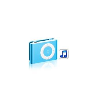 lecteur baladeur MP3 4Go Bleu avec clip