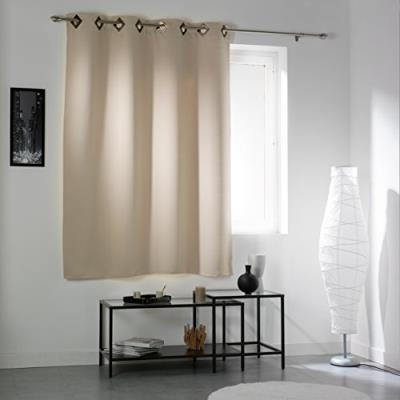 Douceur d'intérieur 1604448 cocoon rideau avec oeillets occultant polyester naturel 140 x 180 x 180 cm