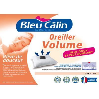 Oreiller VOLUME 60x60cm marque BLEU CALIN