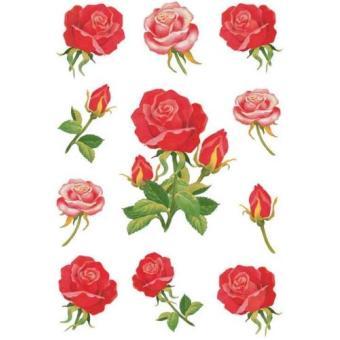 Herma stickers decor roses 3 feuilles 85 x 120 mm de 11 3581