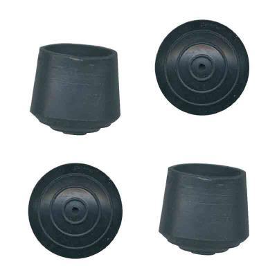 PVM - Embout de meuble caoutchouc noir Ø 22 mm - Lot de 4