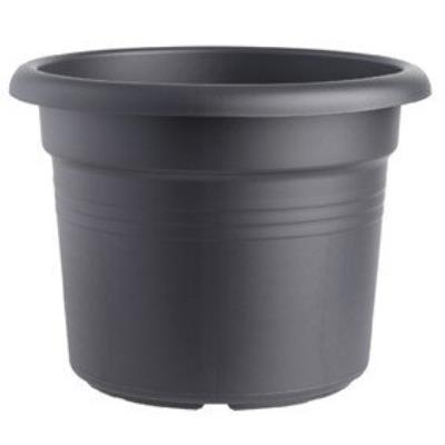 Elho 2055348 Green Basics Cilinder Pot De Fleurs Noir 25 X 25 X 18 Cm