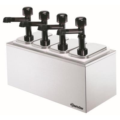 Pompe à sauce 4 pompes avec 4 bacs x 3,3L