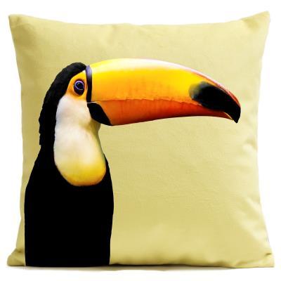 Housse de coussin toucan artpilo jaune 60x60 cm