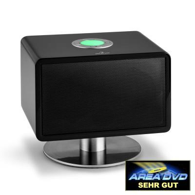 auna LivingQube Enceinte Bluetooth design pour ensemble HiFI home cinema LED couleur noire