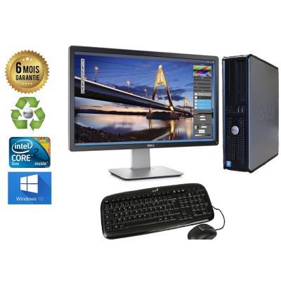 Unite Centrale Dell 780 SFF Core 2 Duo E7500 2,93Ghz Mémoire Vive RAM 4GO Disque Dur 480Go SSD Graveur DVD Windows 10 - Ecran 24(selon arrivage) - Processeur Core 2 Duo E7500 2,93Ghz RAM 4GO HDD 480Go SSD Clavier + Souris Fournis