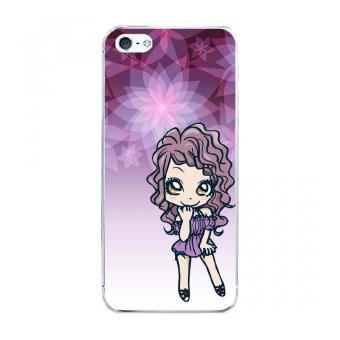Coque rigide pour Apple iPhone 5S avec impreion Motifs manga fille violetta