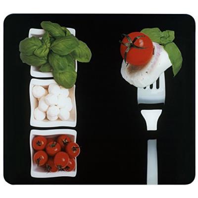 Wenko 2712951500 plaque multi caprese - pour plaques de cuisson vitrocéramiques, planche à découper, verre trempé, 50 x 0.5 x 56 cm, multicolor