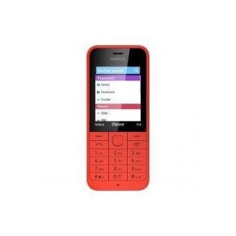 nokia 220 t l phone portable d bloqu 2g ecran 2 4 pouces 1 mo double sim rouge a00017830. Black Bedroom Furniture Sets. Home Design Ideas