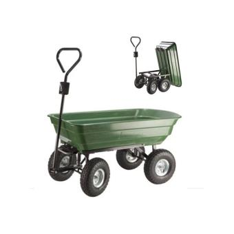 25€ sur Chariot remorque de jardin vert basculant - Outillage de ...
