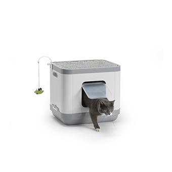 Maison de toilette chat cube