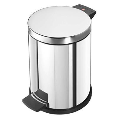 Hailo poubelle profiline solid 14, 14 l (argent) 0514-019