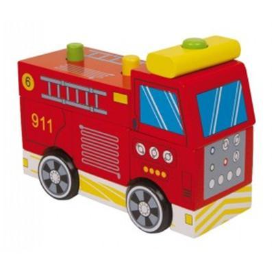 Jeu de construction Legler - camion de pompier