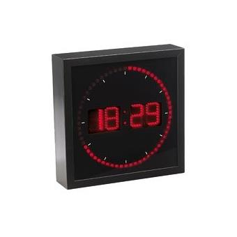horloge digitale murale avec 60 led rouge top prix