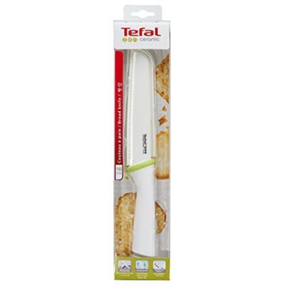 Tefal accessoires 1998645 zen couteau à pain céramique blanc 35,2 x 7,8 x 3,2 cm