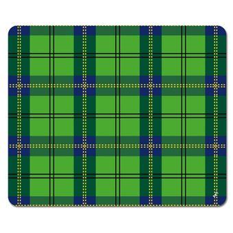 Dessins Tapis De Souris Dessin Carreaux Tartan écossais Vert 19x23 Cm