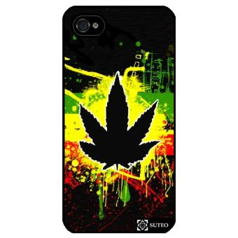 Coque Iphone 4 4S Feuille de cannabis de Jamaique ref 226