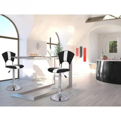 Vip Lot De 2 Chaises De Bar Coloris Noir/Blanc