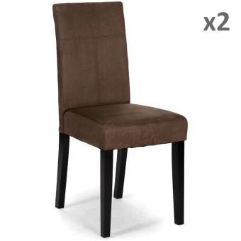 Chaise NoName ROME.230.09.30 - Lot de 2 Chaises ROMEO Wengué ...