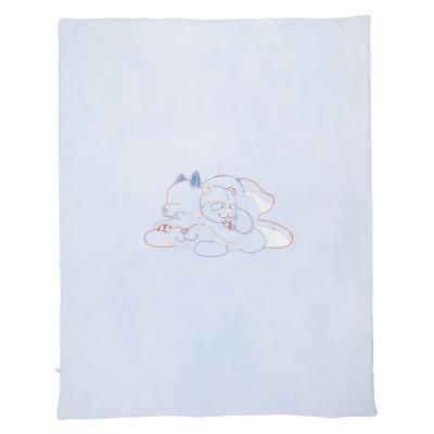 noukie's - couverture jersey william & henry (75 x 100 cm) - bleu