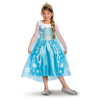 Costume d'Elsa La Reine des Neiges Prestige pour enfant - 10-12 ans