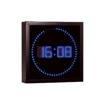 horloge digitale murale avec 60 led bleu pendule ou horloge top prix fnac. Black Bedroom Furniture Sets. Home Design Ideas
