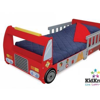 lit camion pompier pour tout petit autres jouets en bois achat prix fnac. Black Bedroom Furniture Sets. Home Design Ideas