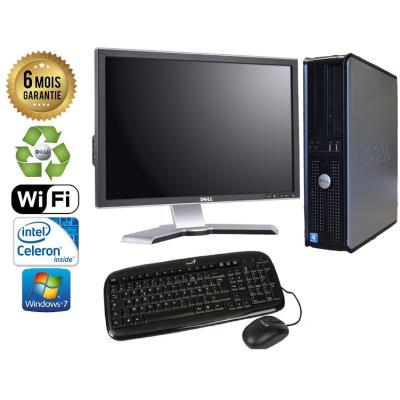 Unite Centrale Dell Optiplex 380 SSF Intel Celeron E3300 2,5Ghz Mémoire Vive RAM 4GO Disque Dur 750 GO Graveur DVD Windows 7 Wifi - Ecran 21(selon arrivage) - Processeur Intel Celeron E3300 2,5Ghz RAM 4GO HDD 750 GO Clavier + Souris Fournis