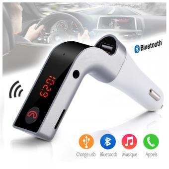 kit mains libres bluetooth pour voiture transmetteur fm sans fil et connexion en bluetooth. Black Bedroom Furniture Sets. Home Design Ideas
