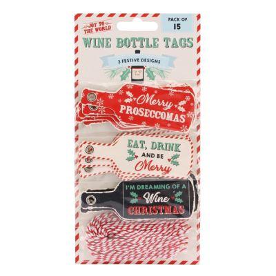 Joy To The World - Etiquette pour bouteilles de Prosecco (Lot de 15) (Taille unique) (Multicolore) - UTCB1957