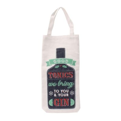 Joy To The World - Sac bouteille 'Good Tonics We Bring To You & Your Gin' (Taille unique) (Multicolore) - UTCB1976