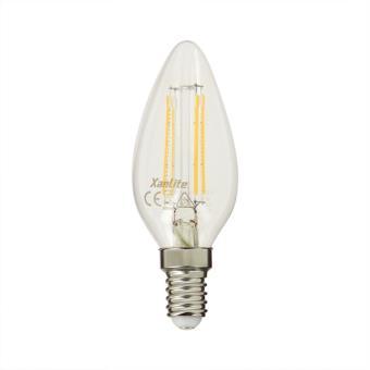 Ampoule LED A Filament Flamme Blanc Neutre 470 Lumens (équi. 40W) E14  XANLITE, Ampoules à LEDs, Top Prix | Fnac